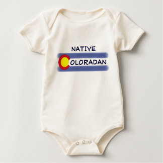 Native Coloradan state flag theme baby creeper