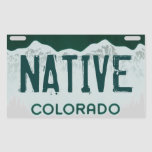Native Colorado artistic license plate sticker