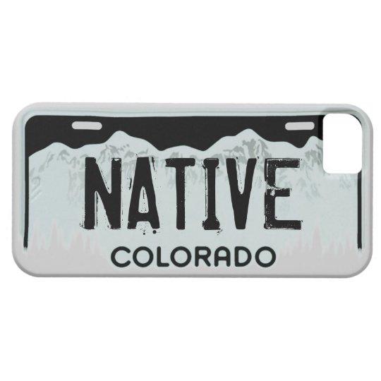 Native Colorado black license plate iphone 5 case