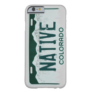 Native Colorado license plate iPhone 6 case