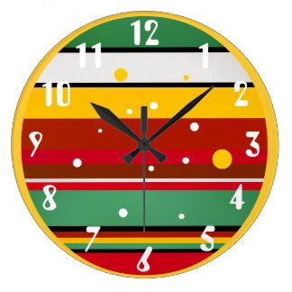 Native Colors Large Clock