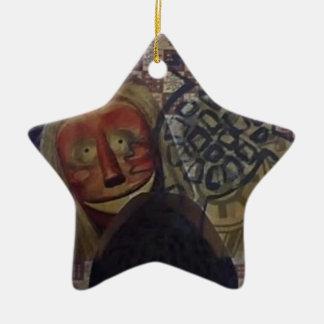 Native Crazy Quilt Ceramic Ornament