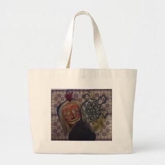 Native Crazy Quilt Large Tote Bag
