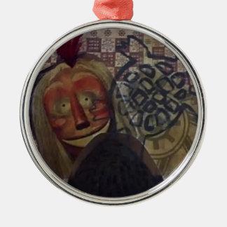 Native Crazy Quilt Metal Ornament