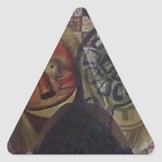 Native Crazy Quilt Triangle Sticker