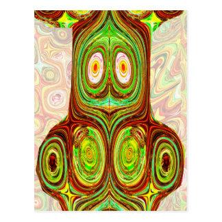 Native Ethnic Spirits Ghosts Masks Emblem Giveaway Post Cards