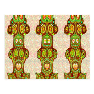 Native Ethnic Spirits Ghosts Masks Emblem Giveaway Post Card