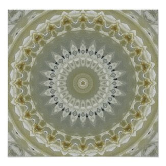 Native Feather Motif Mandala Poster