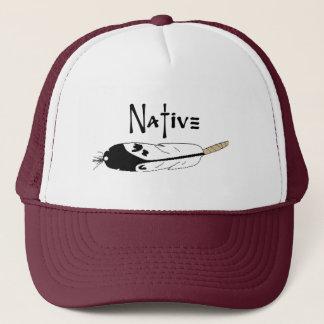 Native Feather Trucker Hat