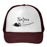 Native Feather Trucker Hats