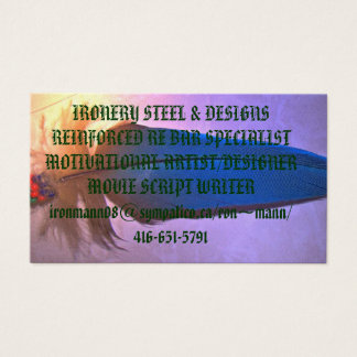 native feathers modified, IRONERY STEEL Business Card