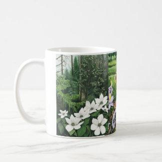 Native flower 3 classic white coffee mug