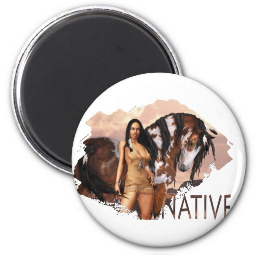 Native Girl Dakotah Magnet