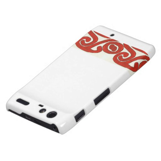 Native Graphic Design in Red Motorola Droid RAZR Case
