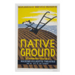 Native Ground Farmhouse 1936 WPA Poster