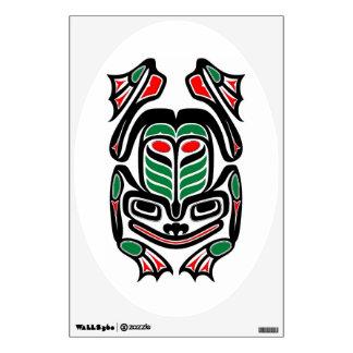 Native Haida Art Frog - black on white Wall Sticker