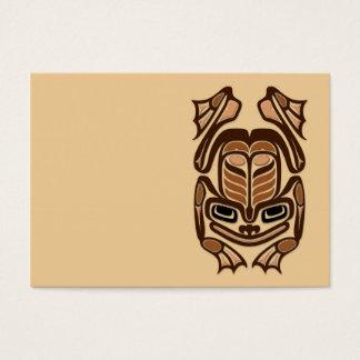 Native Haida Art Frog - brown Business Card