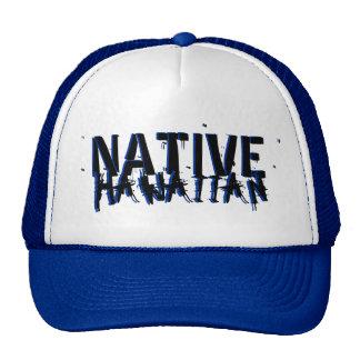 Native Hawaiian blue black hat