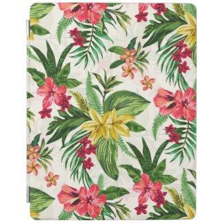 Native Hawaiian Floral Pattern iPad Cover
