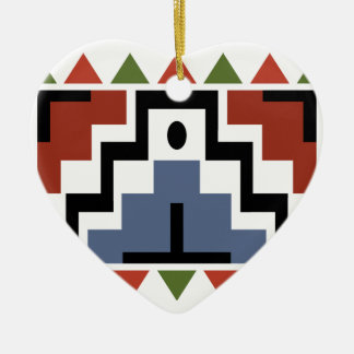 Native Heart Ceramic Ornament