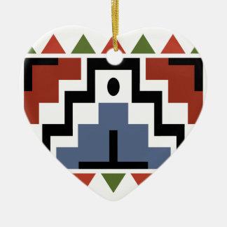 Native Heart Christmas Ornament