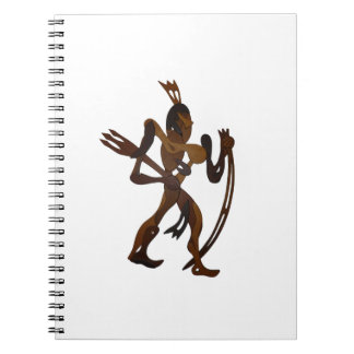 native holding bow wood cutout spiral notebook