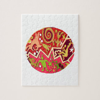 NATIVE Indian Art Vintage Cave Style Jigsaw Puzzle
