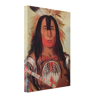 Native Indian Chief Blood Tribe 1832 Canvas Art