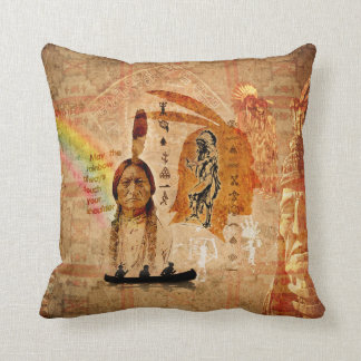 Native Indian Impressions Pillow