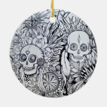 native indian skull home gift ornament decor