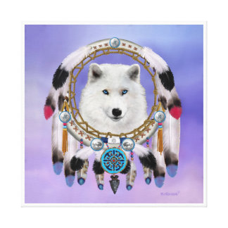Native Indian Wolf Spirit Canvas Print