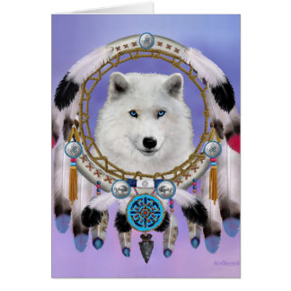 Native Indian Wolf Spirit Card