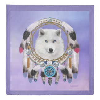 Native Indian Wolf Spirit Duvet Cover