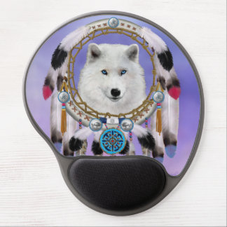 Native Indian Wolf Spirit Gel Mouse Pad