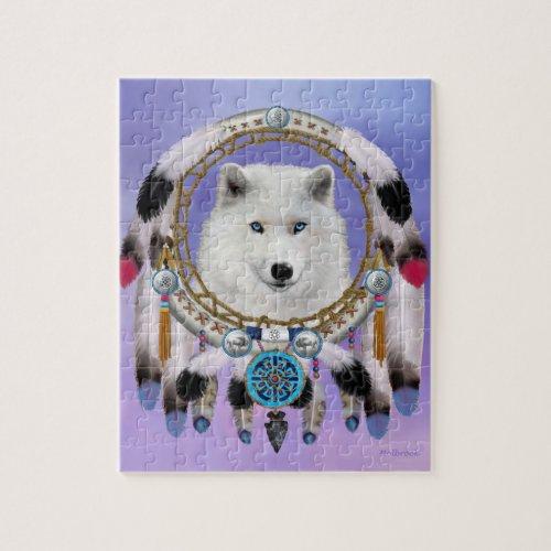 Native Indian Wolf Spirit Jigsaw Puzzle