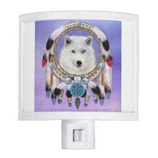Native Indian Wolf Spirit Night Light