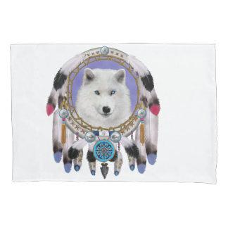 Native Indian Wolf Spirit Pillowcase