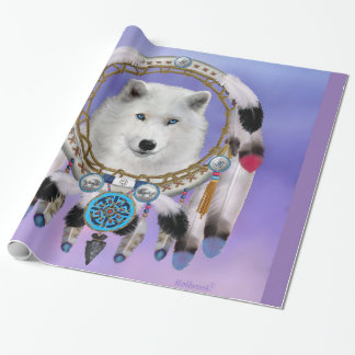 Native Indian Wolf Spirit Wrapping Paper