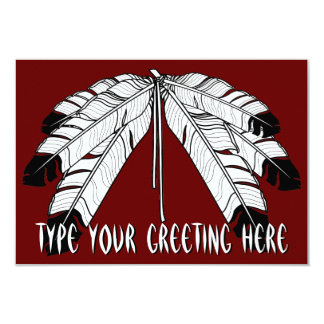Native Invitations Personalized Native Art Cards