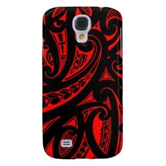 Native Maori style tribal tattoo with bright color Samsung Galaxy S4 Cover