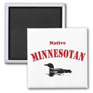 Native Minnesotan 2 Inch Square Magnet