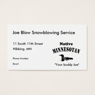 Native Minnesotan Business Cards