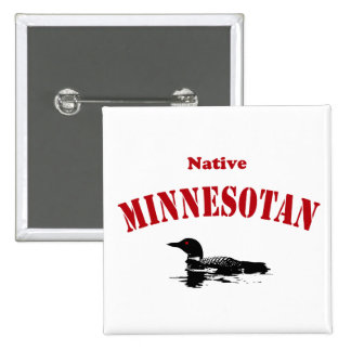 Native Minnesotan Button