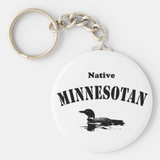 Native Minnesotan Keychain