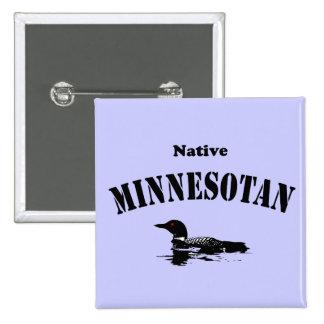 Native Minnesotan Pinback Button