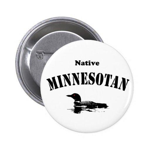 Native Minnesotan Pinback Buttons