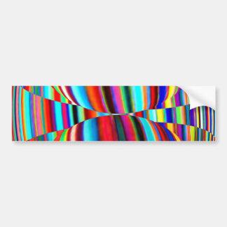 Native Mystic Temple Art - Color Mania Patterns Bumper Stickers