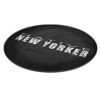 Native New Yorker black Cutting Board