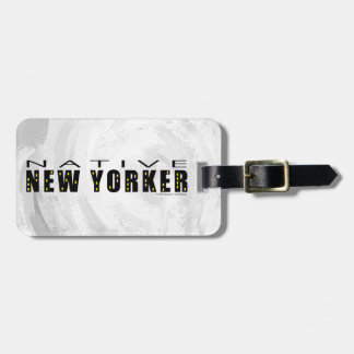 Native New Yorker black Luggage Tag