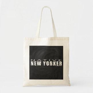 Native New Yorker black Tote Bag
